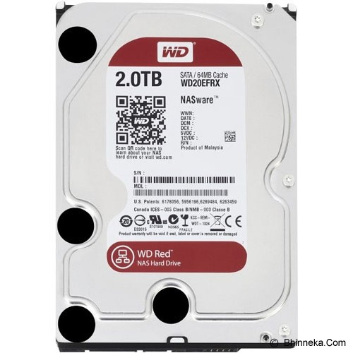 WD Red 2TB [WD20EFRX] - Hdd Internal Sata 3.5 Inch